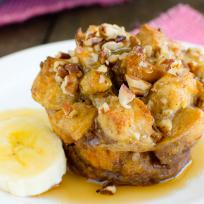 Banana Praline French Toast Muffins Recipe