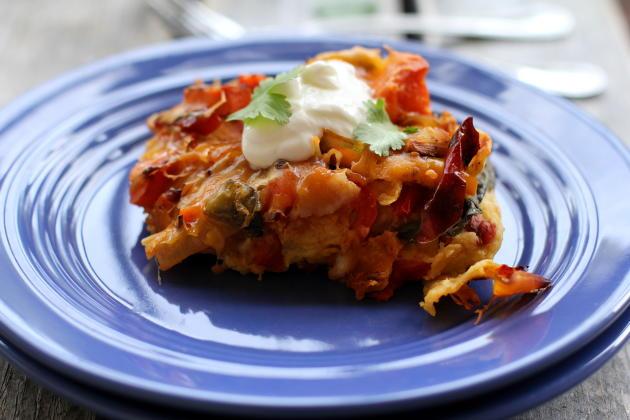 Roasted Vegetable Enchilada Photo