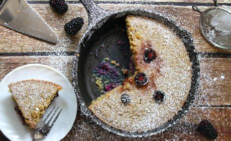 Gluten Free Skillet Blackberry Cake Recipe
