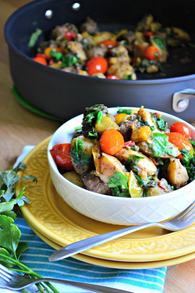 One Pot Italian Sausage Skillet Pic