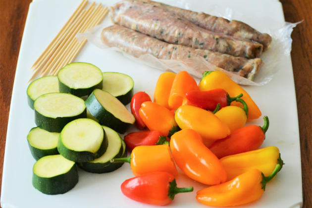 Oven Roasted Sausage Kabobs Picture