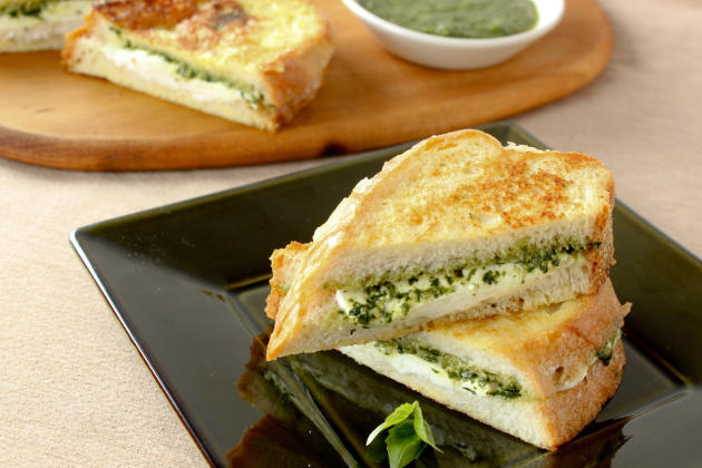 Mozzarella in Carrozza with Pesto Sandwich