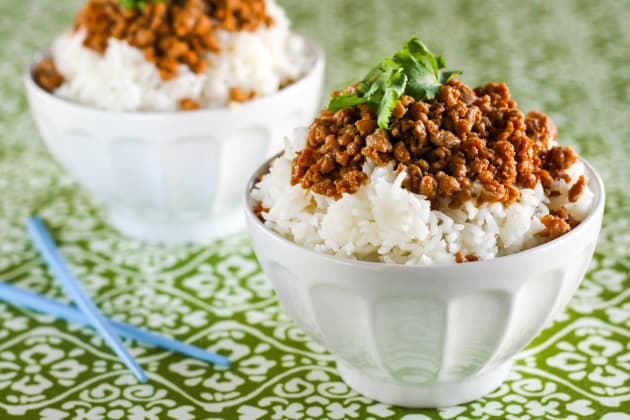 Gluten Free Korean Turkey and Rice Bowl