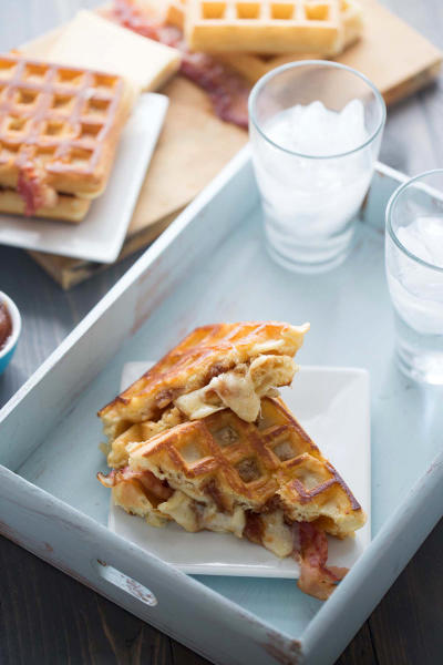 Apple Butter Bacon Waffle Sandwich Picture