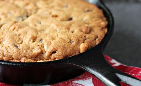 Chocolate Peanut Butter Skillet Cookie