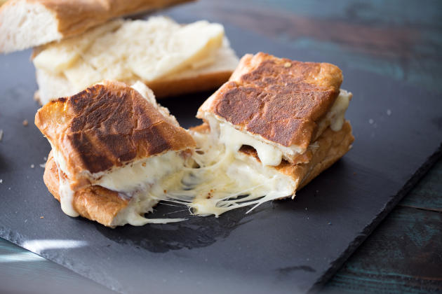 Fondue Cheese Panini Sandwiches Photo