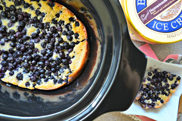 Slow Cooker Blueberry Cobbler Photo