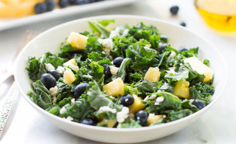 Kale Blueberry Pineapple Salad