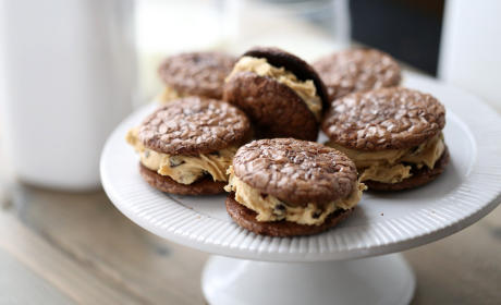 Peanut Butter Chocolate Sandwich Cookies