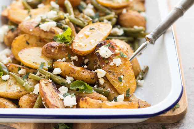 Greek Roasted Potatoes and Green Beans Photo