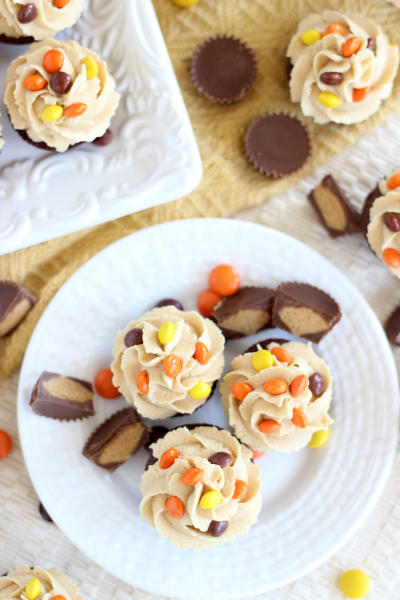 Peanut Butter Cup Brownie Cups Picture