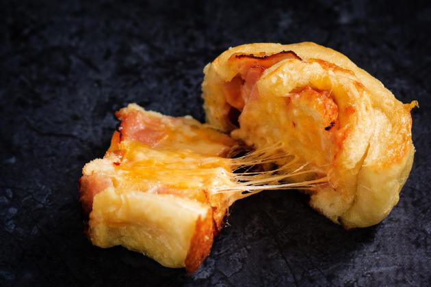 Ham & Cheddar Pretzel Rolls Image