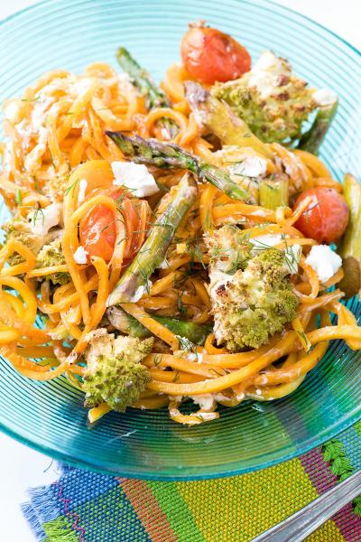 Roasted Spring Vegetables with Butternut Squash Noodles Image
