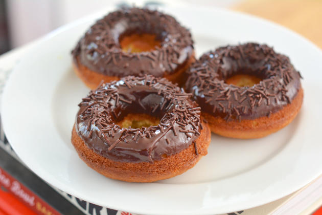Lemon Donuts with Chocolate Glaze Image