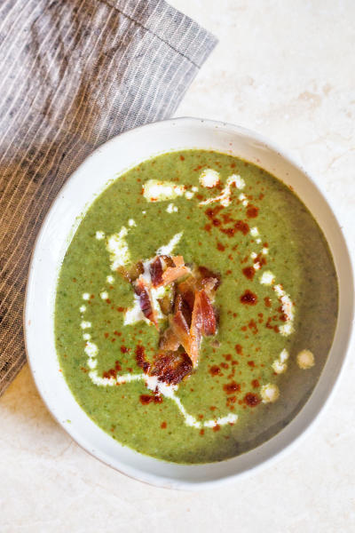Cream of Spinach Soup for Two Picture