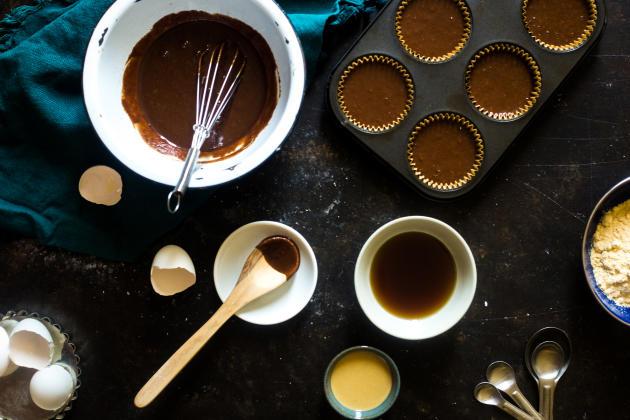 Paleo Chocolate Maple Tahini Muffins Image