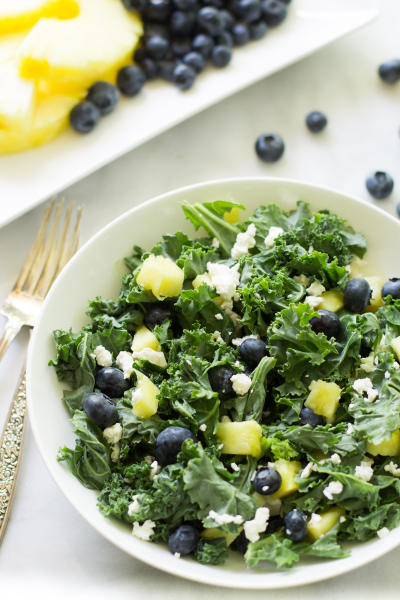 Kale Blueberry Pineapple Salad Pic