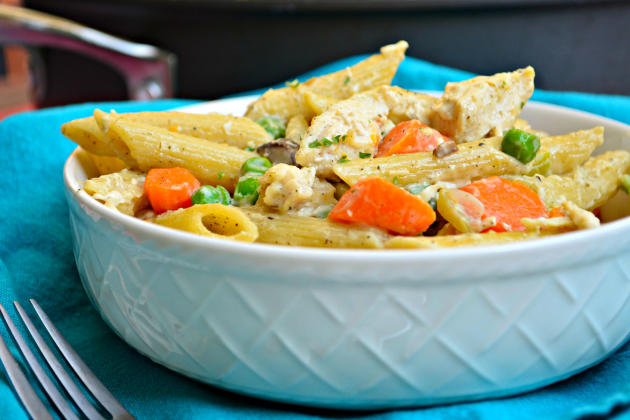 Chicken Pot Pie Pasta - The Daily Meal