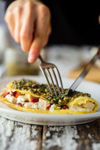 Pesto Omelet Pic