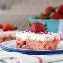 Funfetti Strawberry Poke Cake Recipe