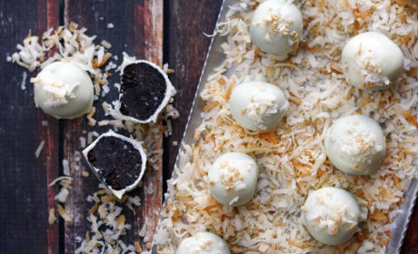 Oreo Cookie Balls With A Hit of Coconut
