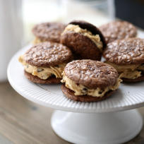 Peanut Butter Chocolate Sandwich Cookies Recipe