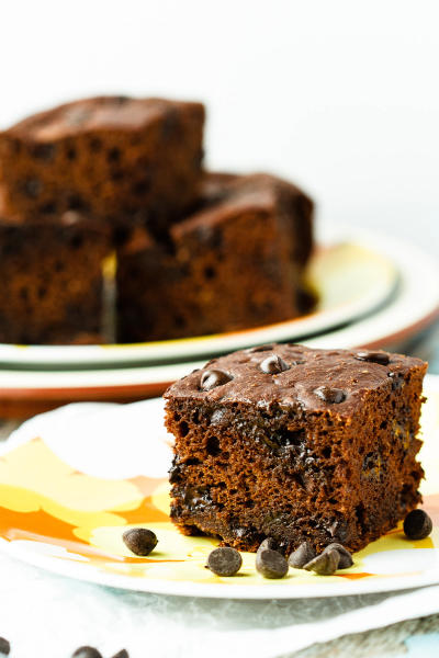 Healthy Chocolate Banana Snack Cake Image