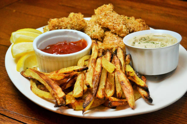 Baked Fish and Chips Pic