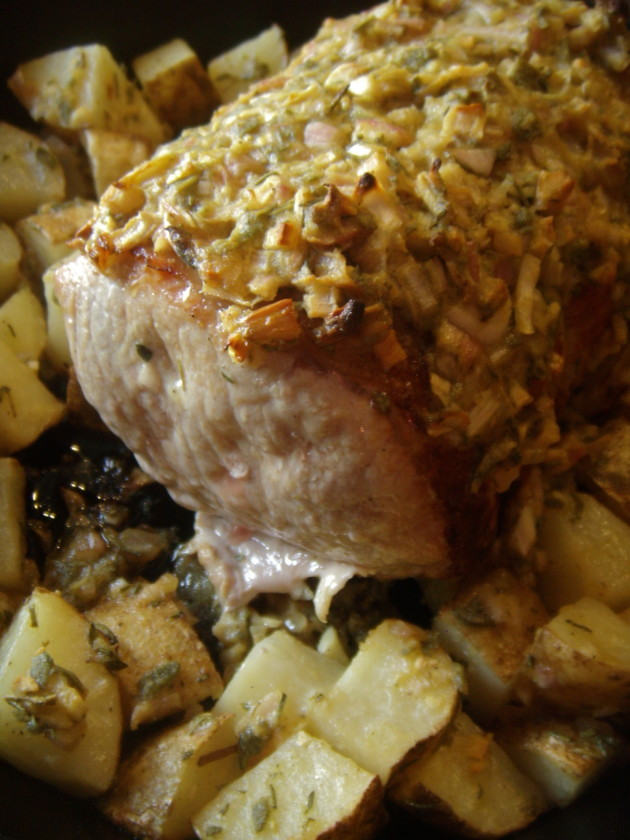 Roasted Pork with Shallots and Herbs