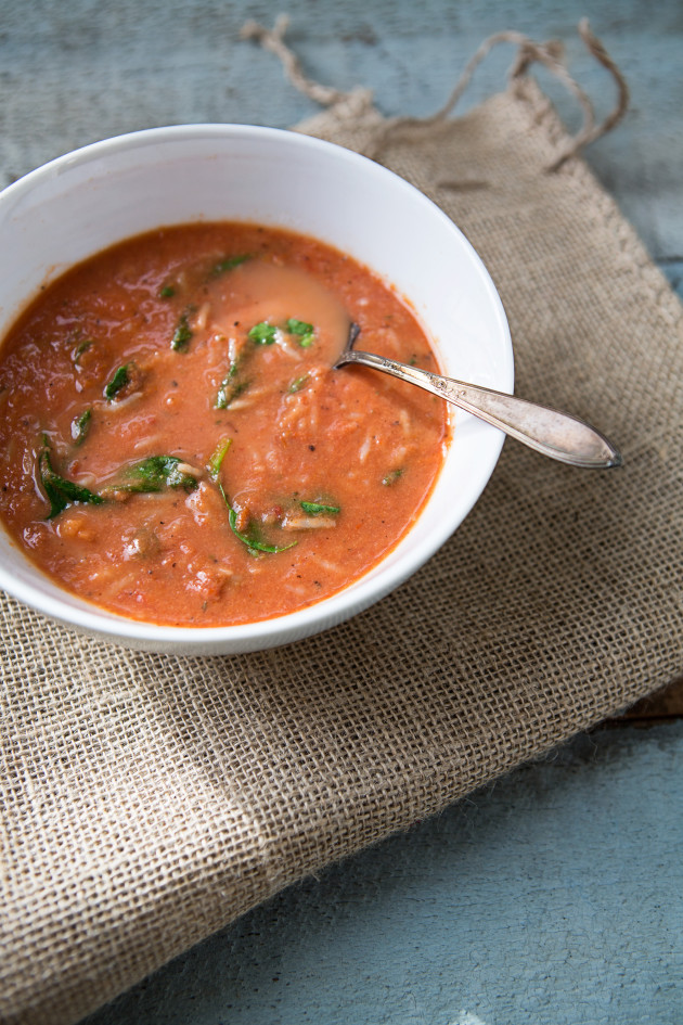 Tomato Rice Spinach Soup Pic