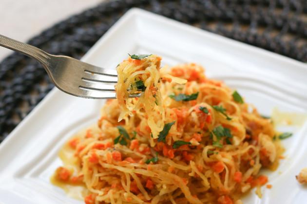 Spaghetti Squash with Walnut-Carrot Sauce: A Paleo Pasta - Food ...