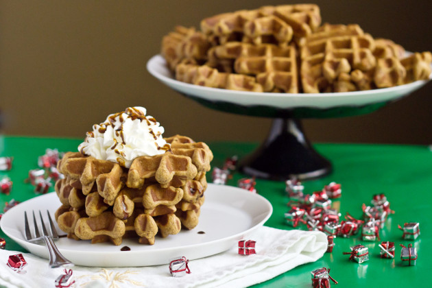 Gingerbread Waffles For Warm Winter Breakfast - Food Fanatic