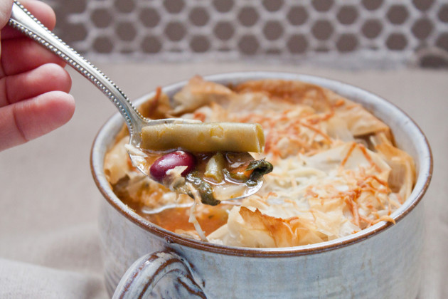 Minestrone Pot Pie for Two - Food Fanatic