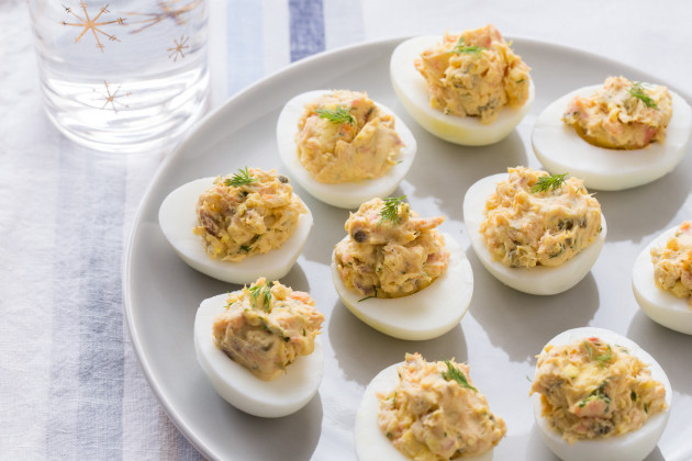 Smoked Salmon Deviled Eggs: Perfect for Easter - Food Fanatic