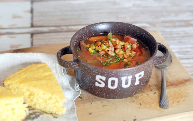 Slow Cooker Ham Soup Image