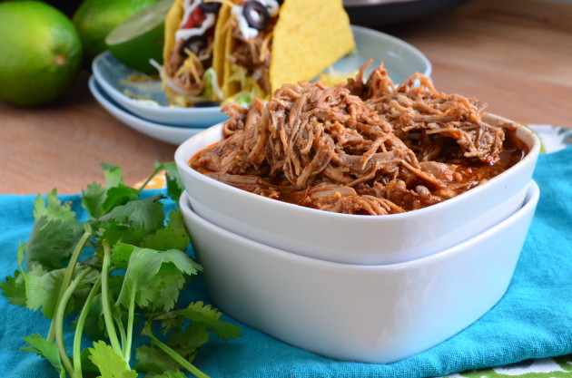 Slow Cooker Shredded Chicken Tacos Image