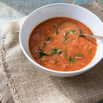 Tomato-rice-spinach-soup