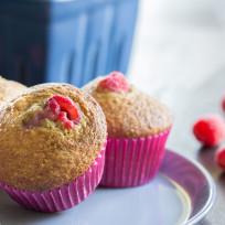 Raspberry-bran-muffins