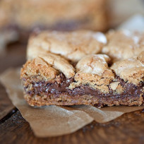 Nutella Cookie Bar Picture