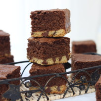 Chocolate chip shortbread brownies photo