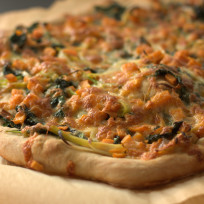Kale and Sweet Potato Pizza Recipe