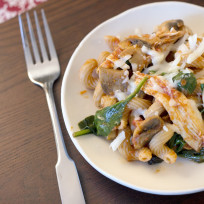 Chicken-pasta-with-mushrooms