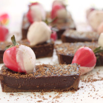 Chocolate Strawberry Tart Photo