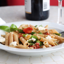 Pasta-with-green-beans-photo