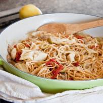 Mediterranean pasta photo