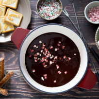 Chocolate Peppermint Fondue Recipe