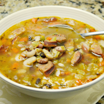 Sausage bean soup photo