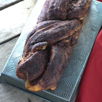Mexican hot chocolate bread photo