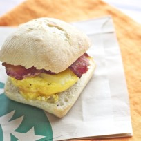 Starbucks breakfast sandwich photo