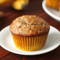 Banana bread muffins photo